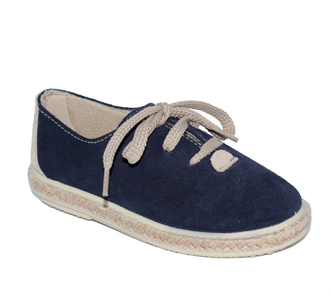 8e658ee8 ¡Calzado infantil de calidad en Adrielsmoda.es! Zapato serraje azul marino para  niño