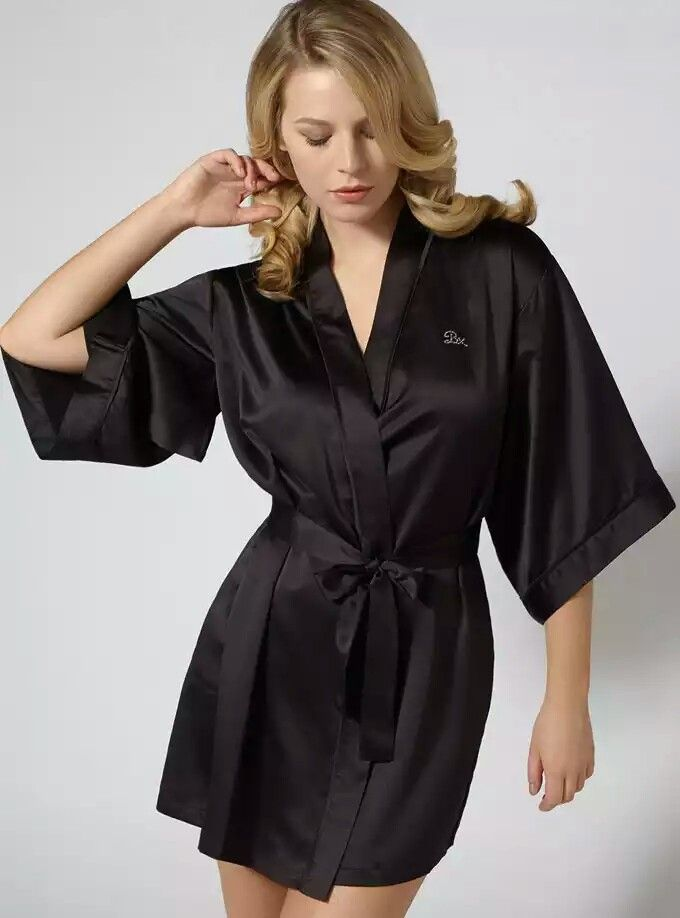 Boux Avenue Dressing Gown Fashion Satin Satin Kimono Satin