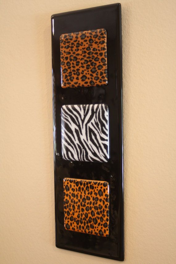 Fused Glass Wall Art/Panel Animal Print by JMFusions on Etsy, $90.00 ...