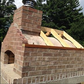 Gable Roof Wood Fired Outdoor Brick Pizza Oven By The Gyomber