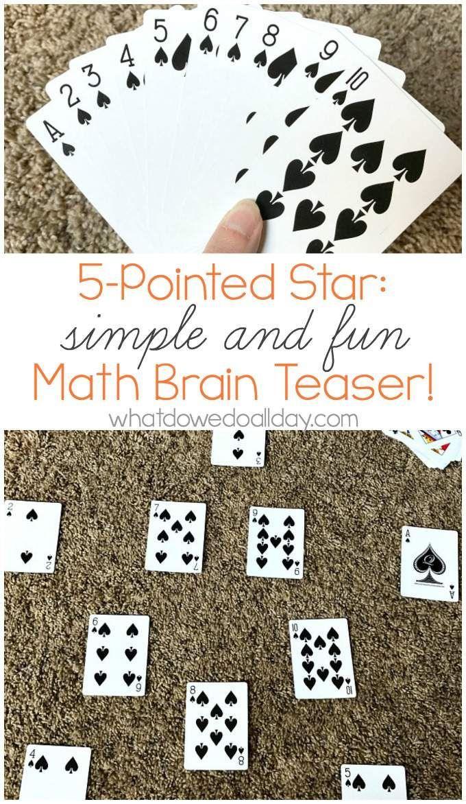 Five Pointed Star: A Math Card Puzzle | Math, Brain and Fun math