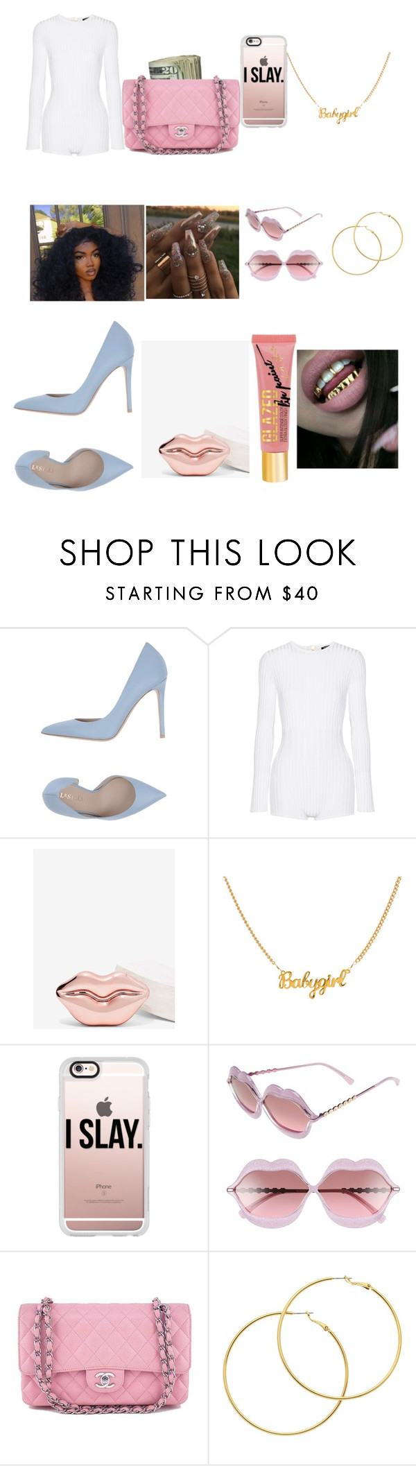 """""""Untitled #92"""" by princessmarie1992 ❤ liked on Polyvore featuring Le Silla, Balmain, Casetify, Wildfox, Chanel, Melissa Odabash and Charlotte Russe"""