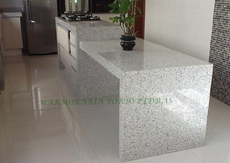 Mesa e bancada para cooktop tramontina em granito branco - Mesa de granito ...