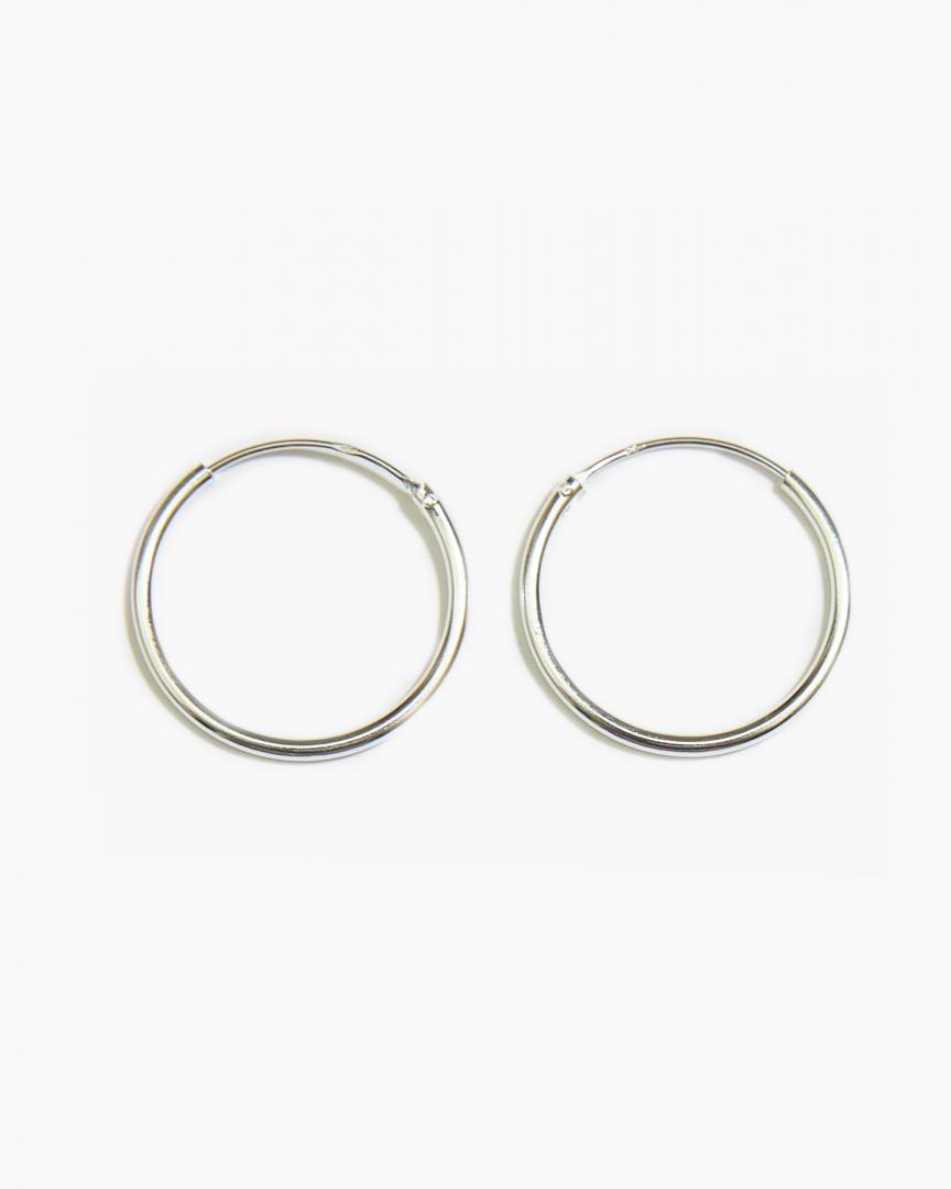 Big Hoop Earrings 20mm Sterling Silver Big Hoop Earrings Hoop Earrings Tiny Hoop Earrings