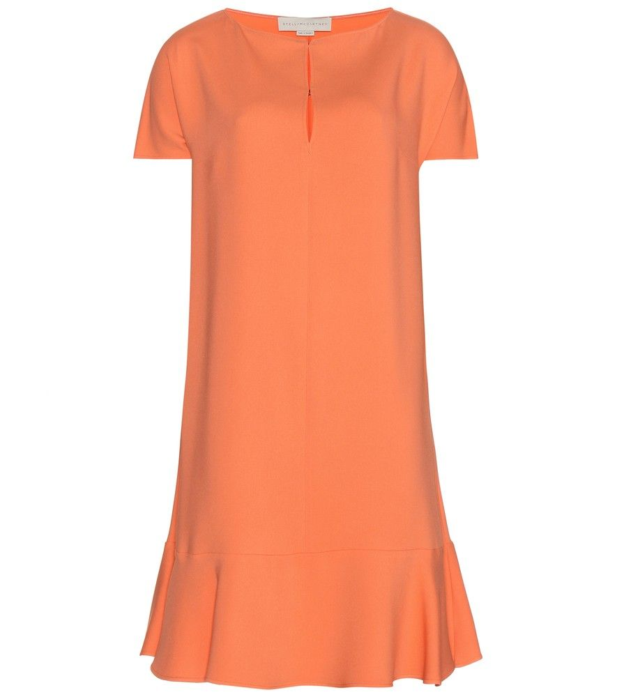 Stella McCartney - Cynthia wool crêpe dress - The epitome of feminine sophistication in it's papaya orange shade, Stella McCartney's 'Cynthia' dress will bring an air of elegance to your looks. The wool crêpe hangs in a perfect flounce to the hem for ease of movement. Style with ballerinas to the office or elevate with pumps. seen @ www.mytheresa.com