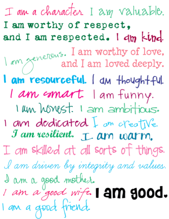 don t be so hard on yourself free printable affirmations for women