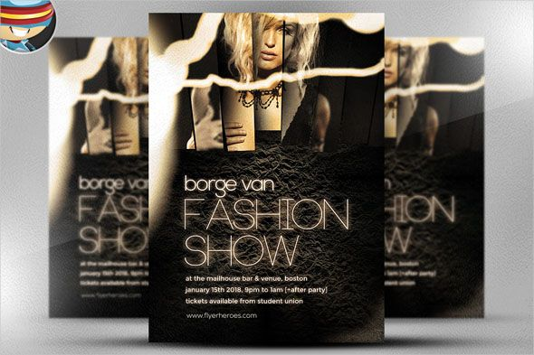 Best Fashion Show Flyer Template Designs  Flyer Template And