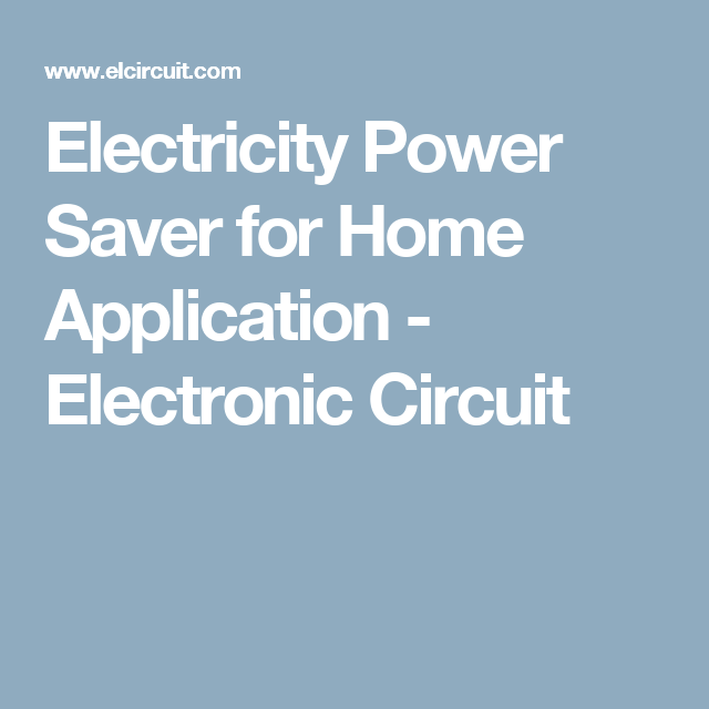 Electricity Power Saver for Home Application | Electric