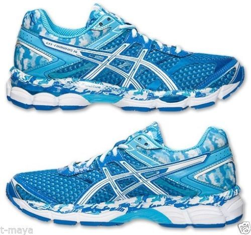 ASICS GEL-CUMULUS 16 BR RUNNING WOMEN\u0027s M MESH AQUA - BLUE RIBBON - WHITE  NEW