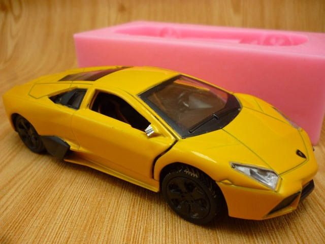 NEW ARRIVAL 1pcs 3D Sports car sugar cake mold silicone mold