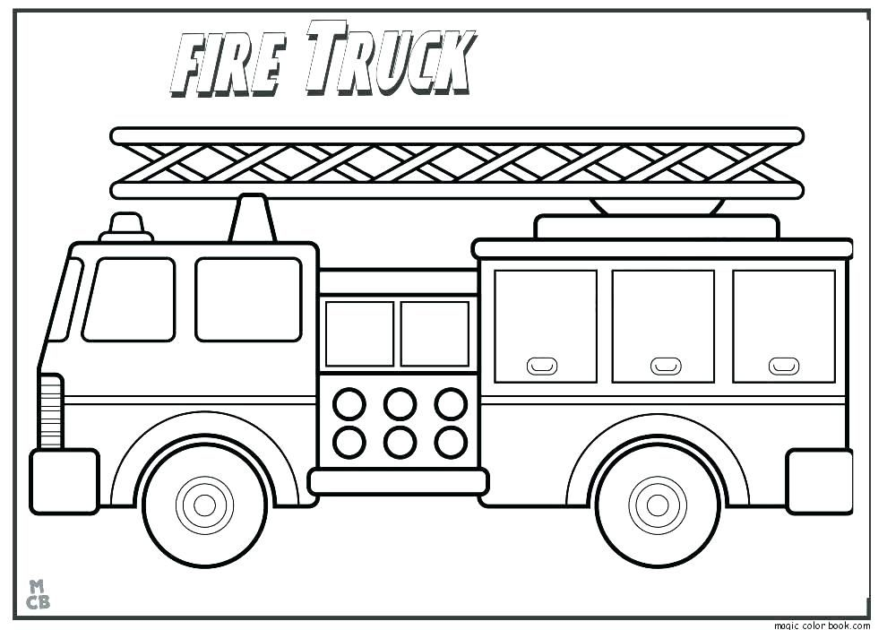 Use Fire Truck Coloring Page As A Medium To Learn Color ...