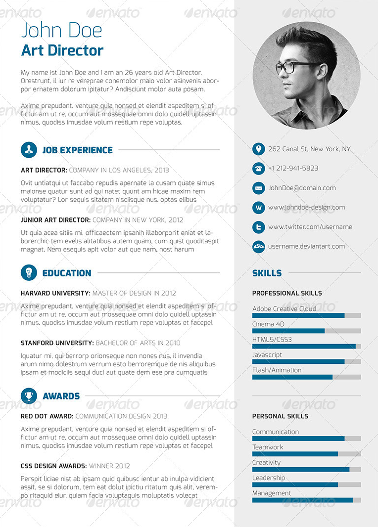 3 Piece Resume Cv Cover Letter Curriculum Vitae Resume