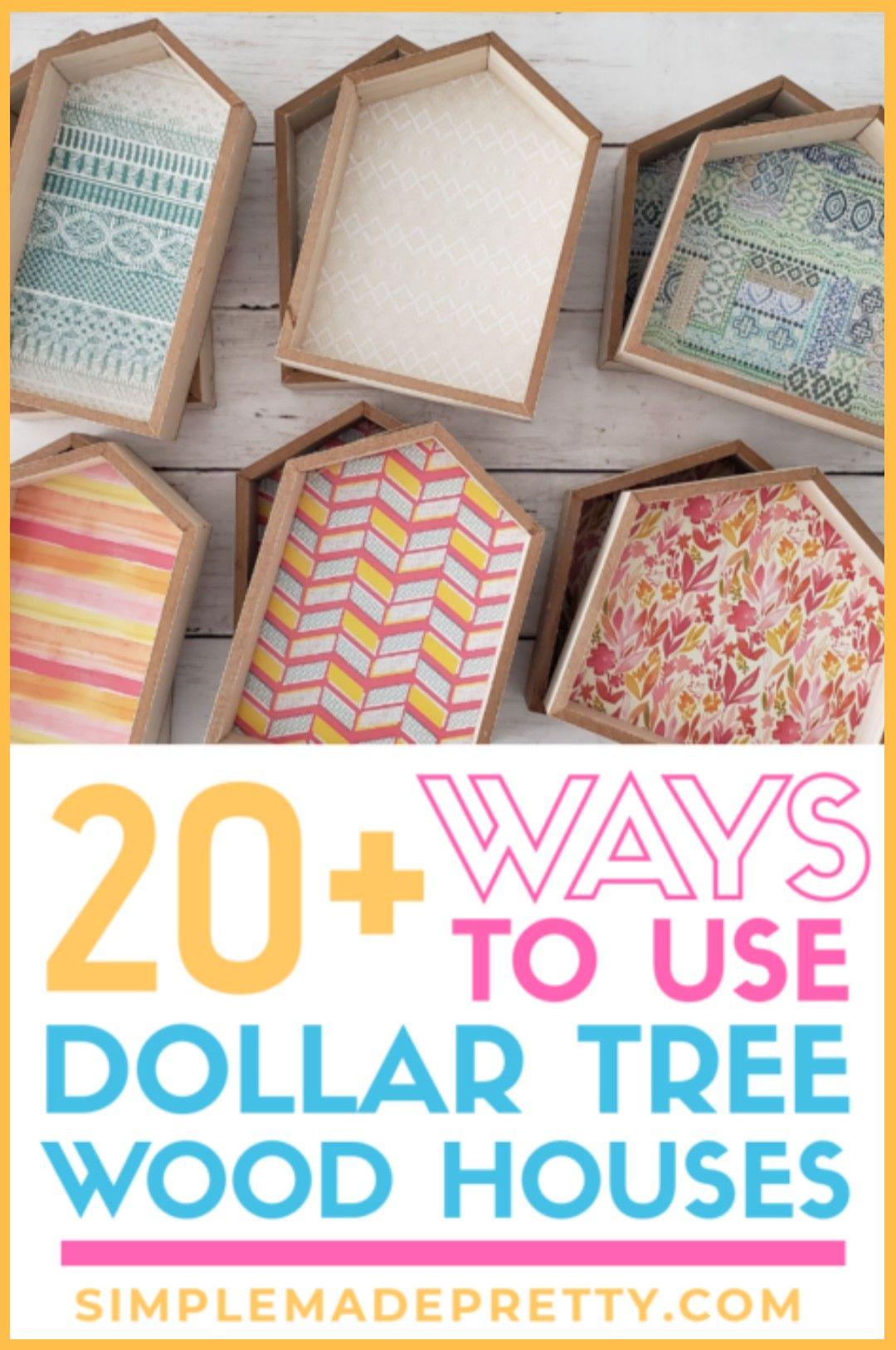 Dollar Tree Wood House DIY