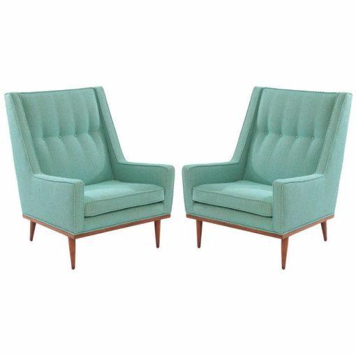Milo Baughman lounge chairs circa late 1950's. Mid-century modern