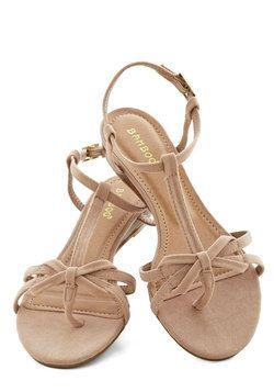 Impromptu Date Sandal in Chai, #ModCloth  Bridesmaids?