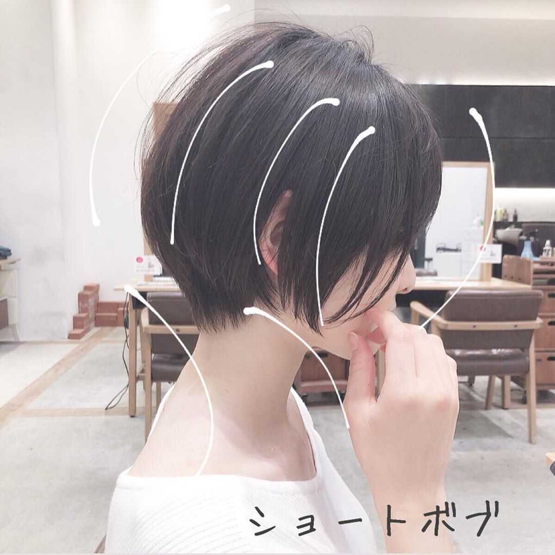 ショートボブ ヘアカタログ 戸崎亨祐 On Instagram シルエットと毛