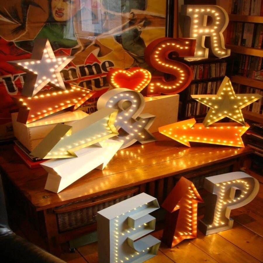marquee led light up letters and symbols from notonthehighstreetcom