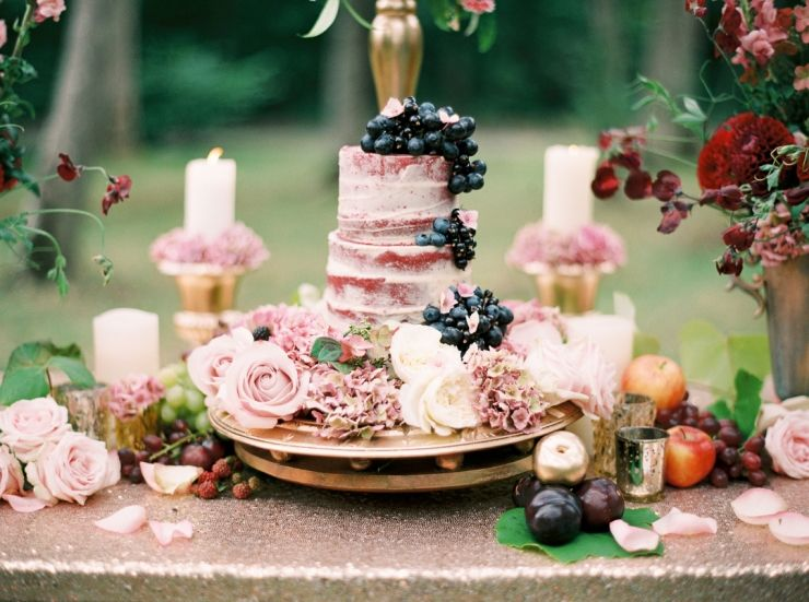 semi naked wedding cake in woodlands at Marwell Hotel wedding inspiration by Jenny Owens Photography