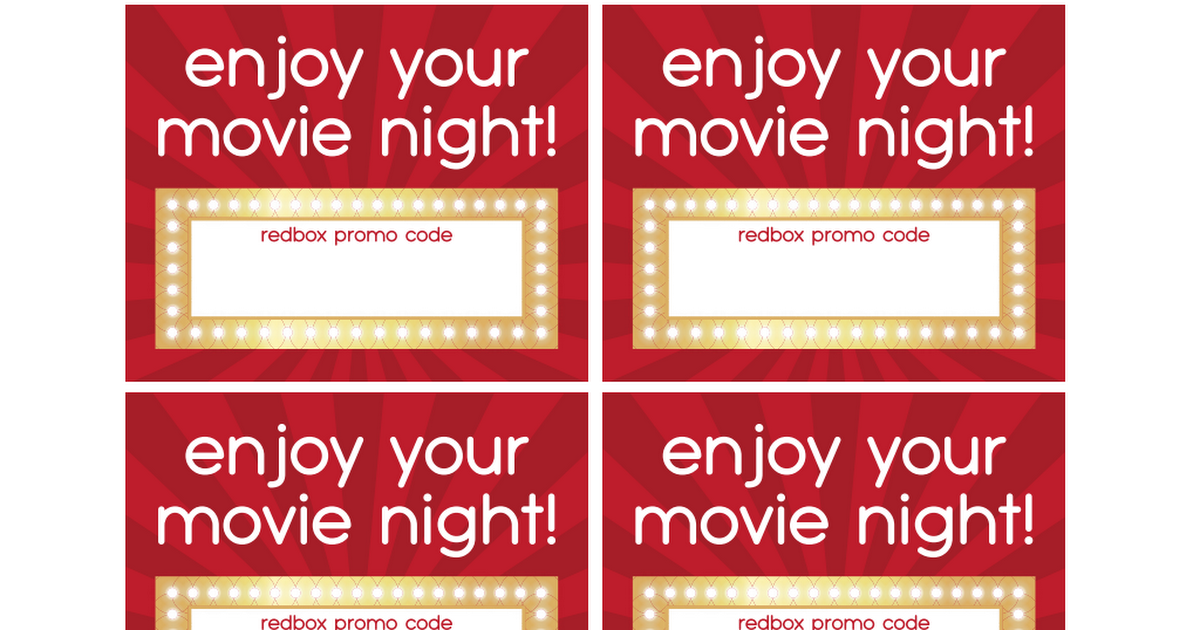 photo about Printable Redbox Gift Cards known as Redbox Card.pdf present strategies Redbox present card, Reward tags