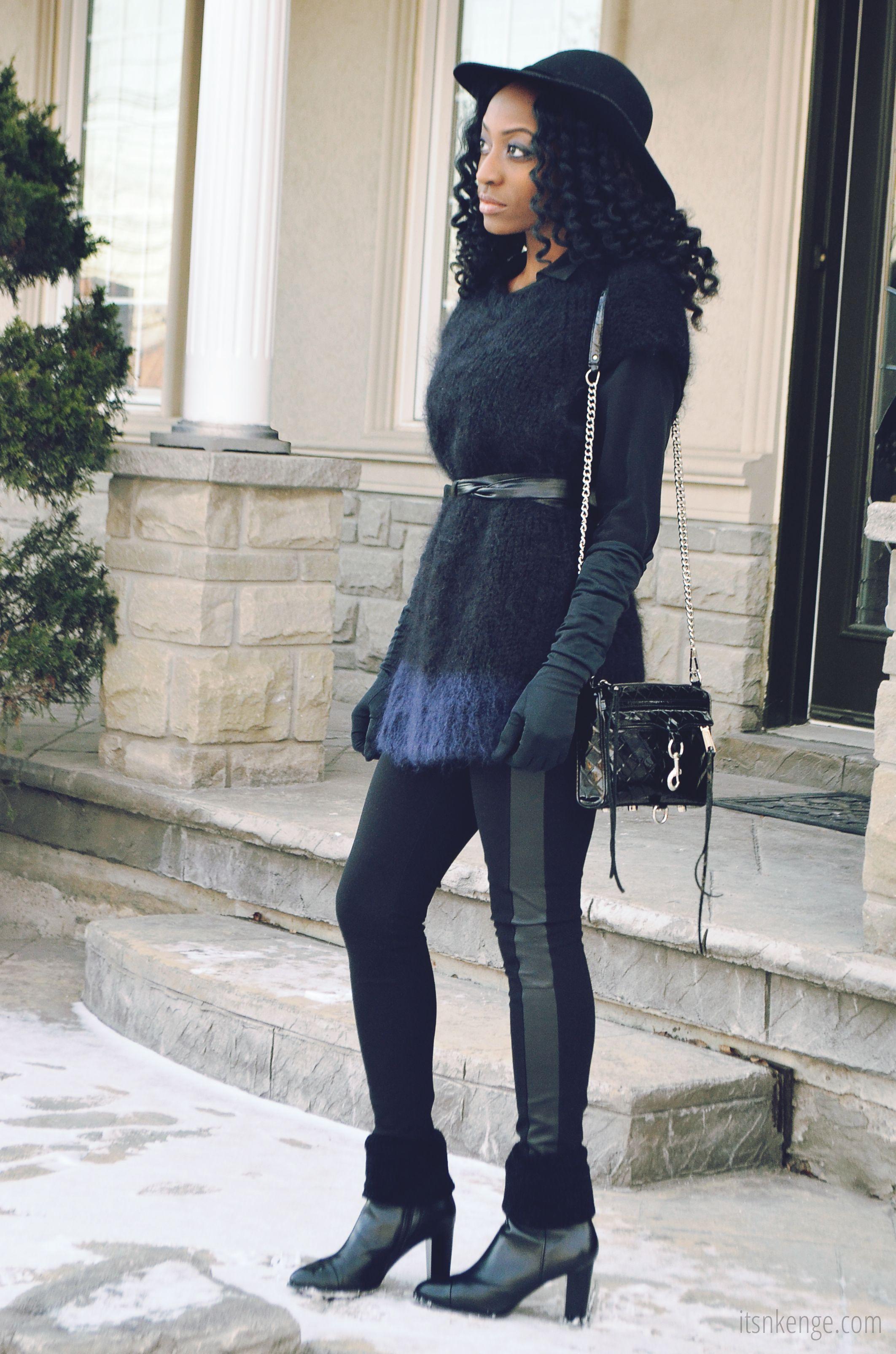 Women's Black Mohair Short Sleeve Sweater, Black Dress Shirt ...