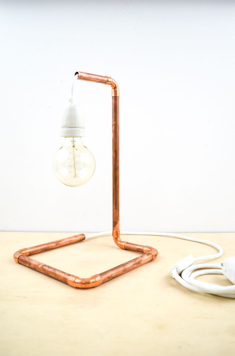 Lampe Diy Diy Kupfer Lampe Aus Dem Baumarkt Home Decorating Ideas Diy