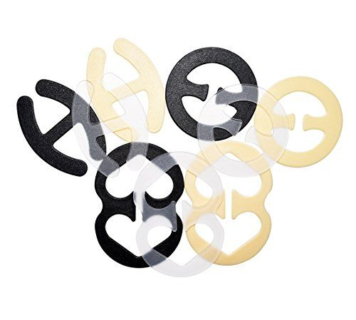 "Cleavage Control Bra Strap Clips Conceal Straps to Racer back - 9pcs / 20pcs. 2 kinds package for choose: 1) 9pcs fully detachable bra clips. 3 shapes: Round, ""H"" and ""8"". Clear, Black, Beige for each shape; 2) 20pcs fully detachable bra clips (""8"" Shape). Black, White, Beige, Clear for each 5pcs. Pls choose your favor plan. Smooth Edges and did not scrape the skin. Secretly transform any bra straps to racer back straps easily and comfortably. Prevents slipping bra strap, solve the problem…"