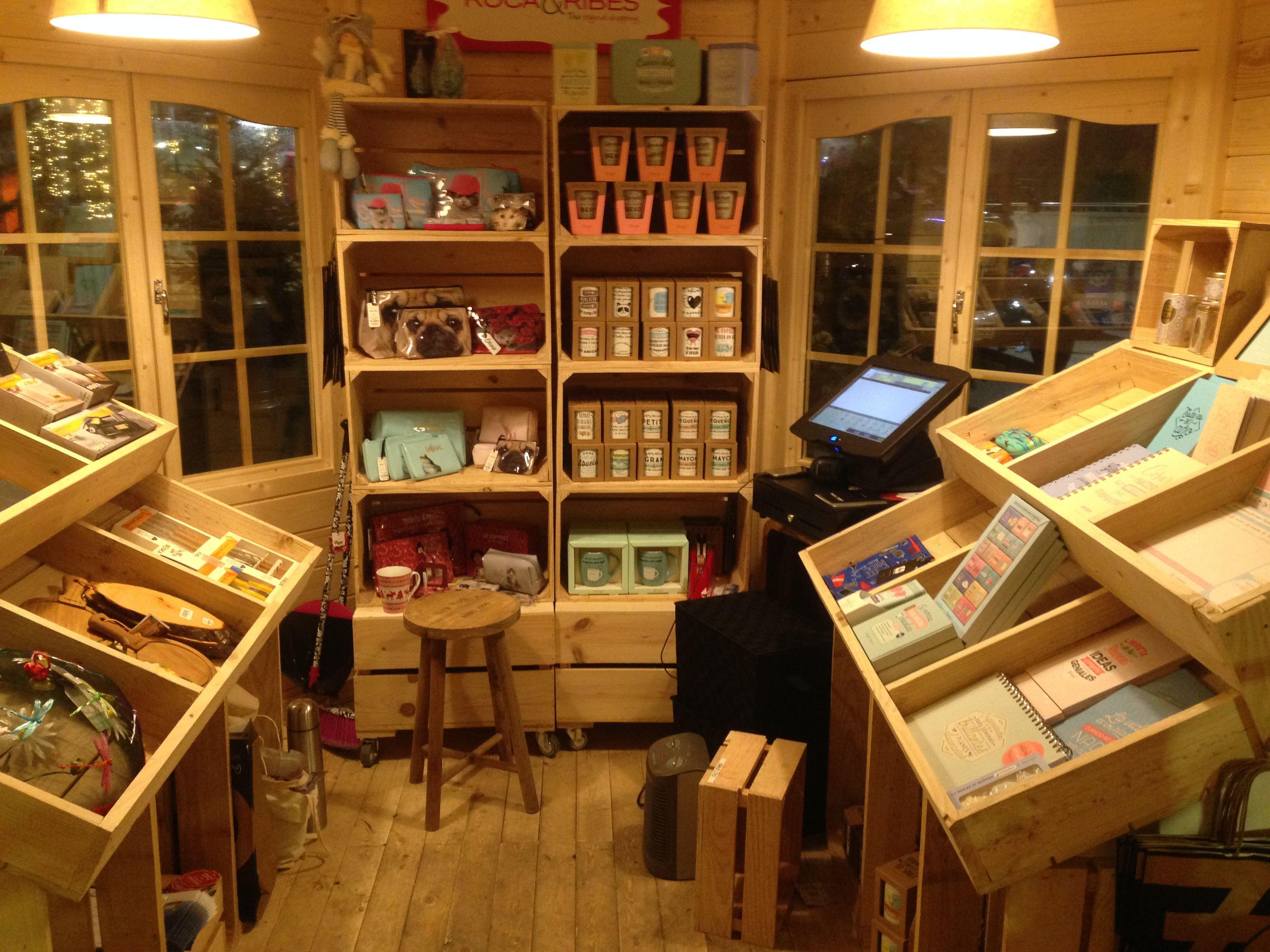 Muebles hechos con madera de palet cajas de madera fruta - Palet de madera decoracion ...