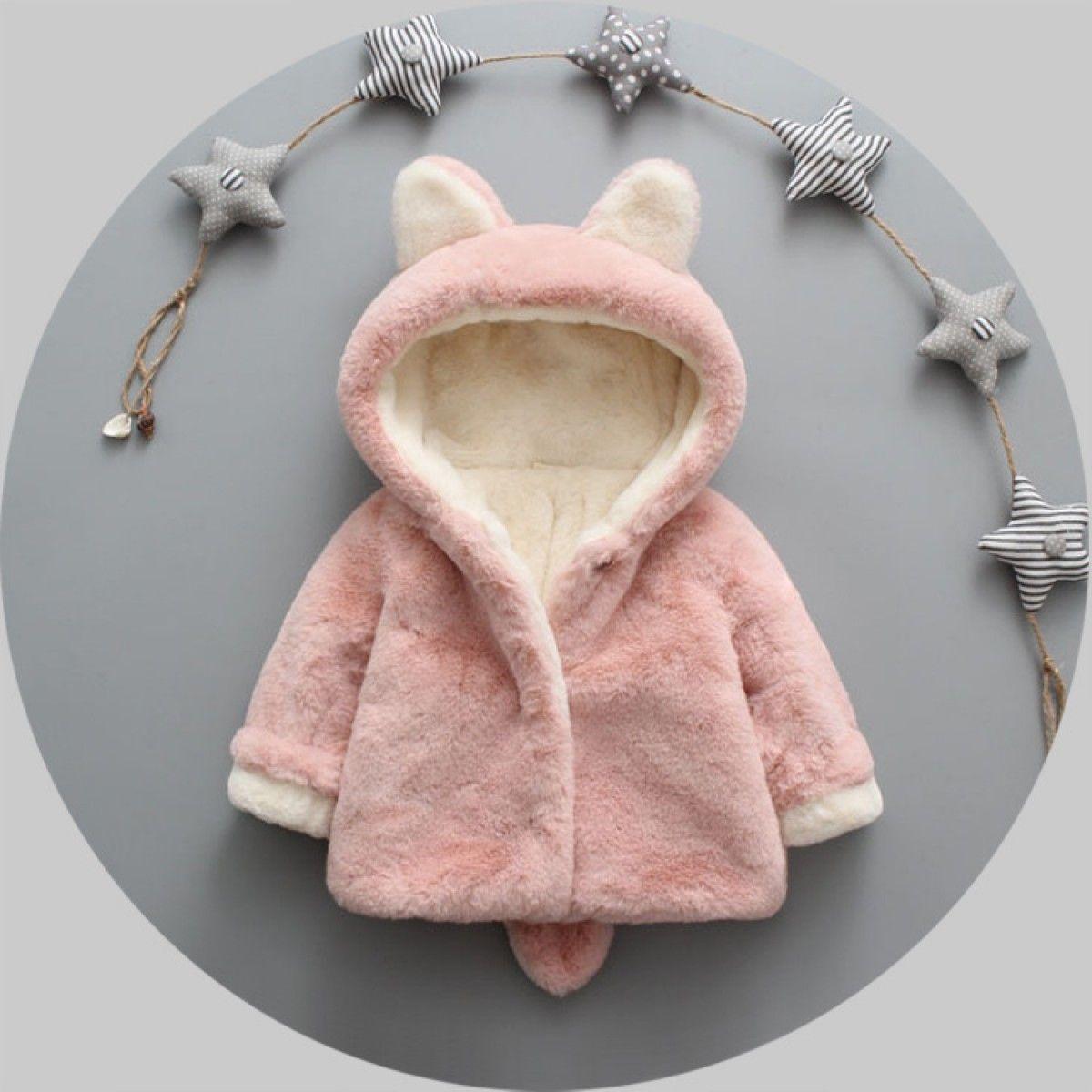 Veste à capuche pour bébé en polaire avec petites oreilles