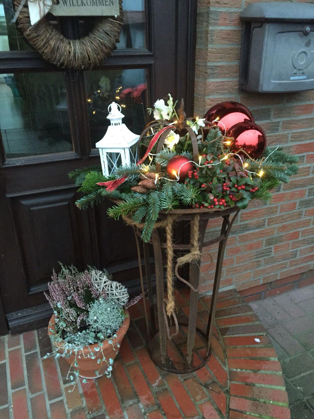 Xmas Deko Schale Rostig Weihnachtsdekoration