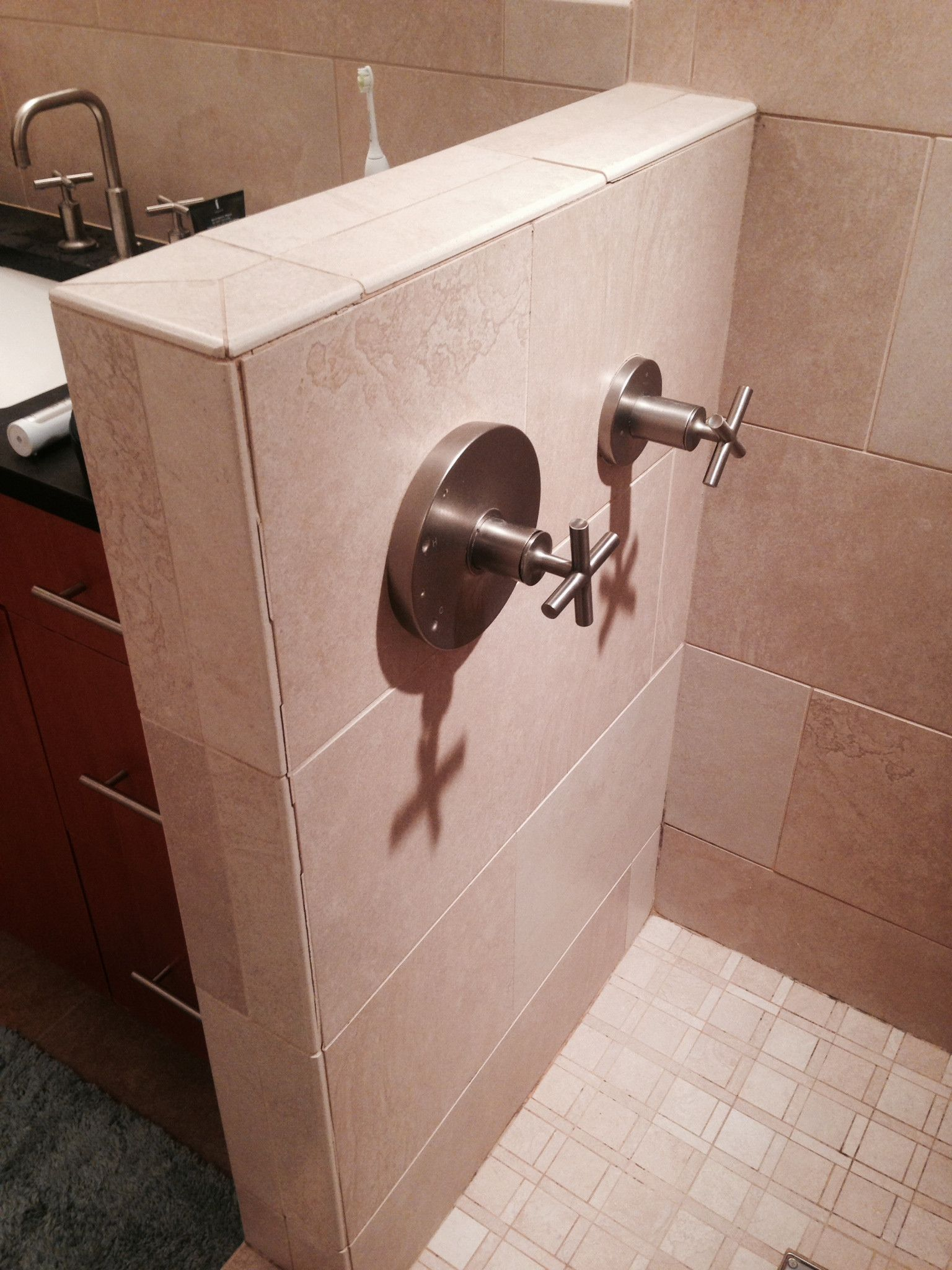 How To Repair Broken Grout In Shower Tile Home Improvement Stack Exchange With Images Shower Tile Small Bathroom Decor Small Bathroom Sinks