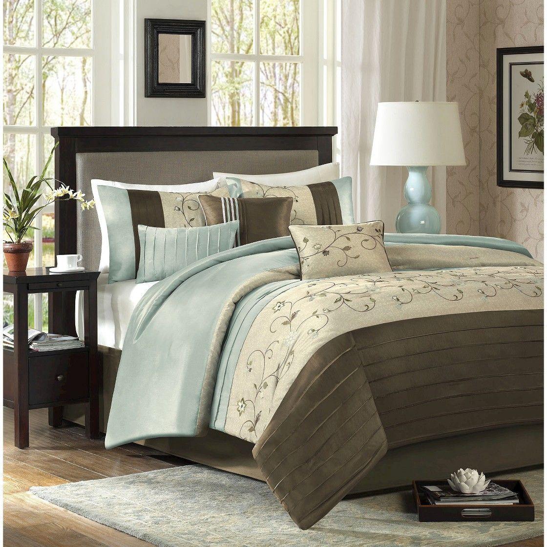 Monroe Embroidered Comforter Set