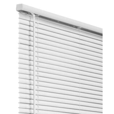 Chicology White Cordless 1 In Vinyl Mini Blind 34 In W X 64 In L Vnbgw3464 The Home Depot In 2020 Vinyl Mini Blinds Mini Blinds Blinds