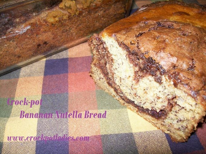 Crock-Pot+Nutella+Banana+Bread+-CrockPotLadies.comslow cooker nutella banana bread