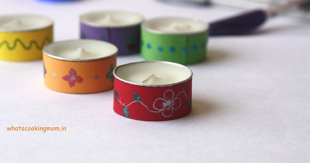 Easy, inexpensive ways to decorate a tealight candle.