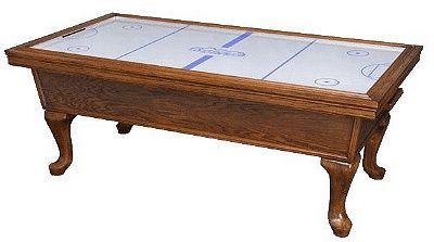 Etonnant Carved Wood Air Hockey Table   Too Bad It Got Recalled.