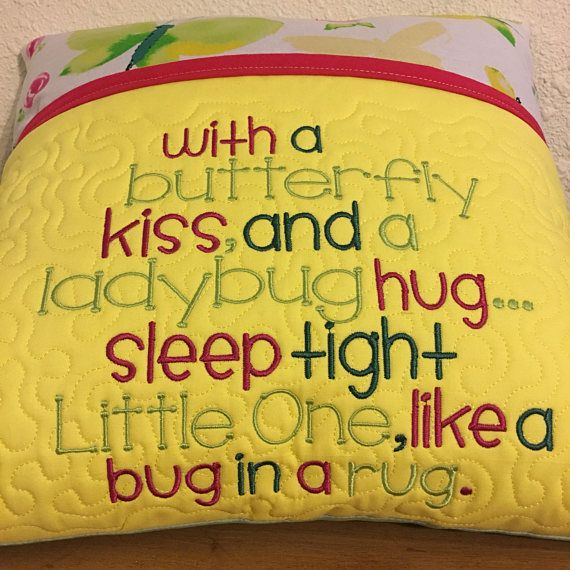 Machine Embroidery Design With A Butterfly Kiss A Ladybug