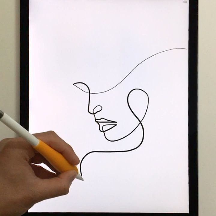 Drawing portraits in a single line / minimal one line art #drawings #art