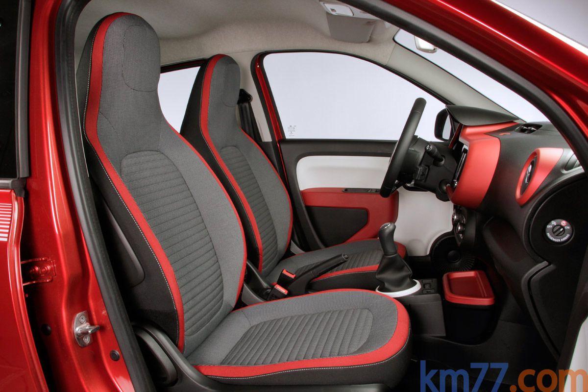 Renault Twingo Sce 70 Zen Turismo Rojo Deseo Interior Asientos 5
