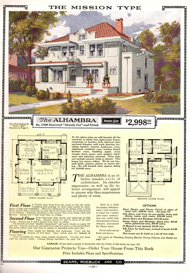 Two Sears Alhambras In Tulsa Oklahoma House Plans The