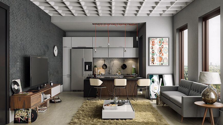 I love to share you a lot of pictures of modern and cool apartment ideas such as on this post a modern apartment in grey and white color