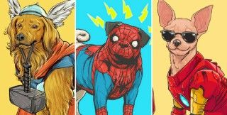 Marvel superheroes would be a lot more adorable if they were dogs