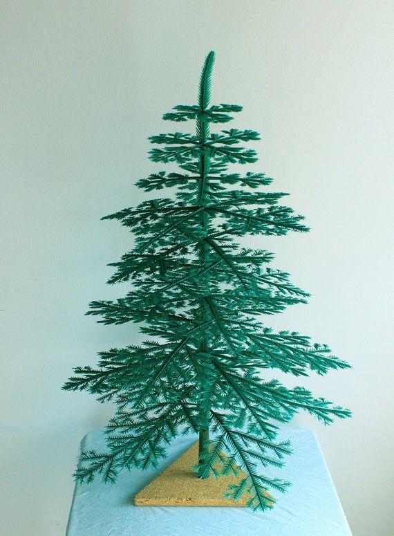 Vintage Dismountable Miniature Plastic Christmas Tree Made In The Soviet Union 1970s