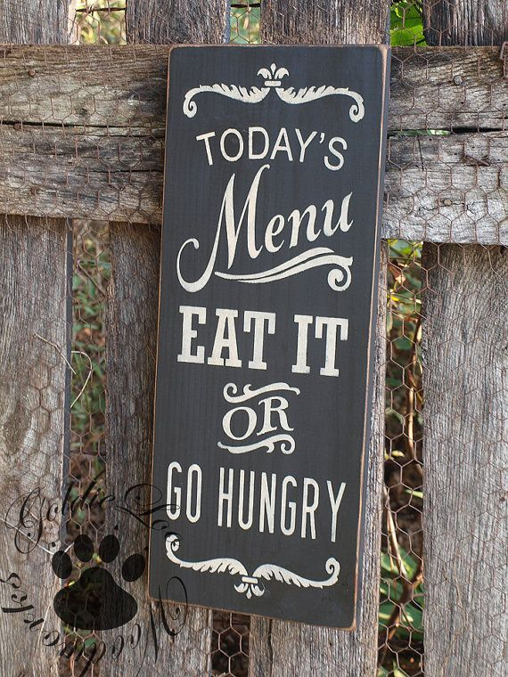 Todays Menu Chalkboard Art Word ArtTypography Pine Wall Sign Country Living QuotesCountry RoomsDining