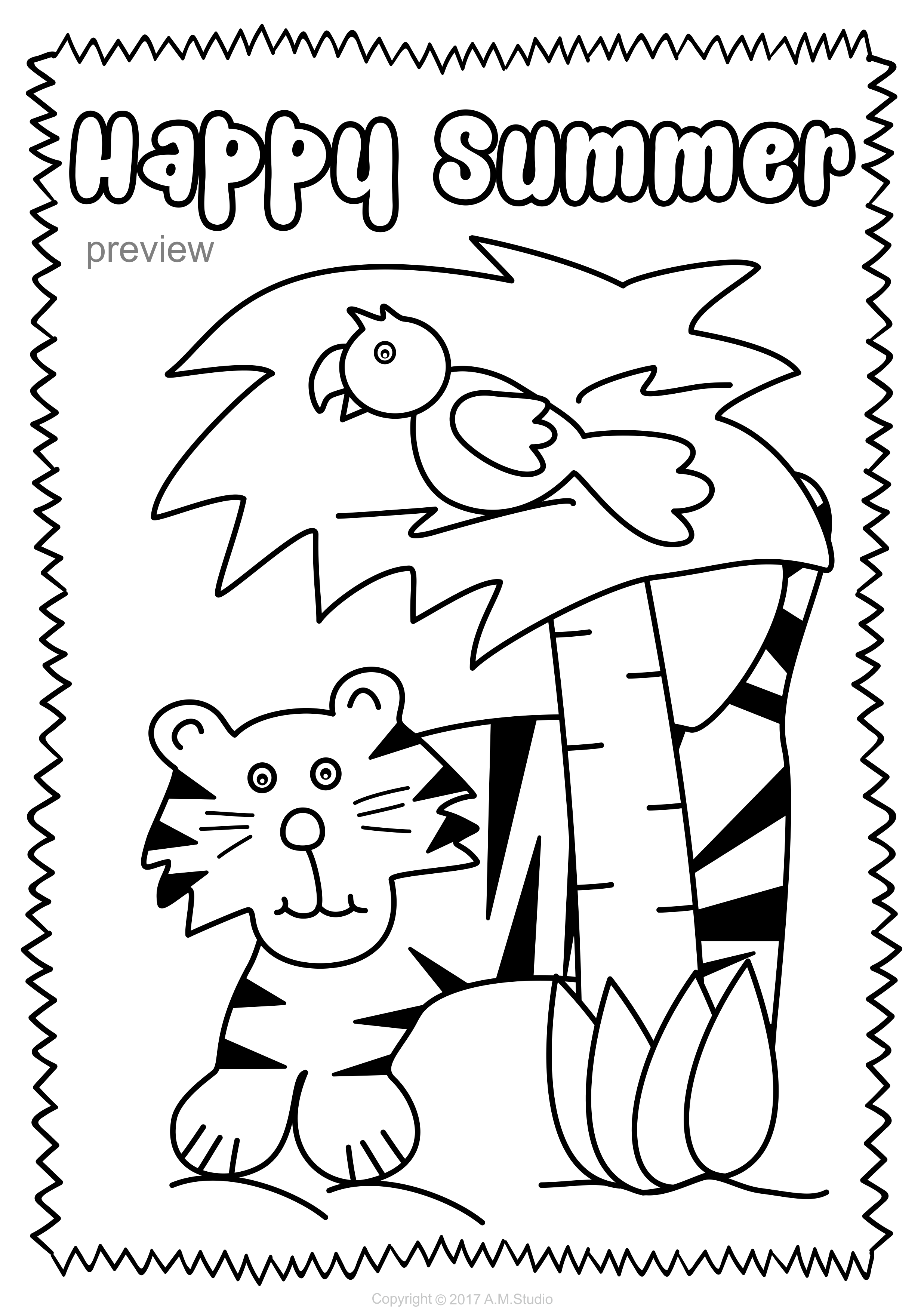 Summer Coloring Pages | Coloring Pages | Pinterest | Summer