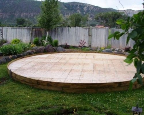Colorado yurt company build a platform for your yurt for Simple platform deck plans