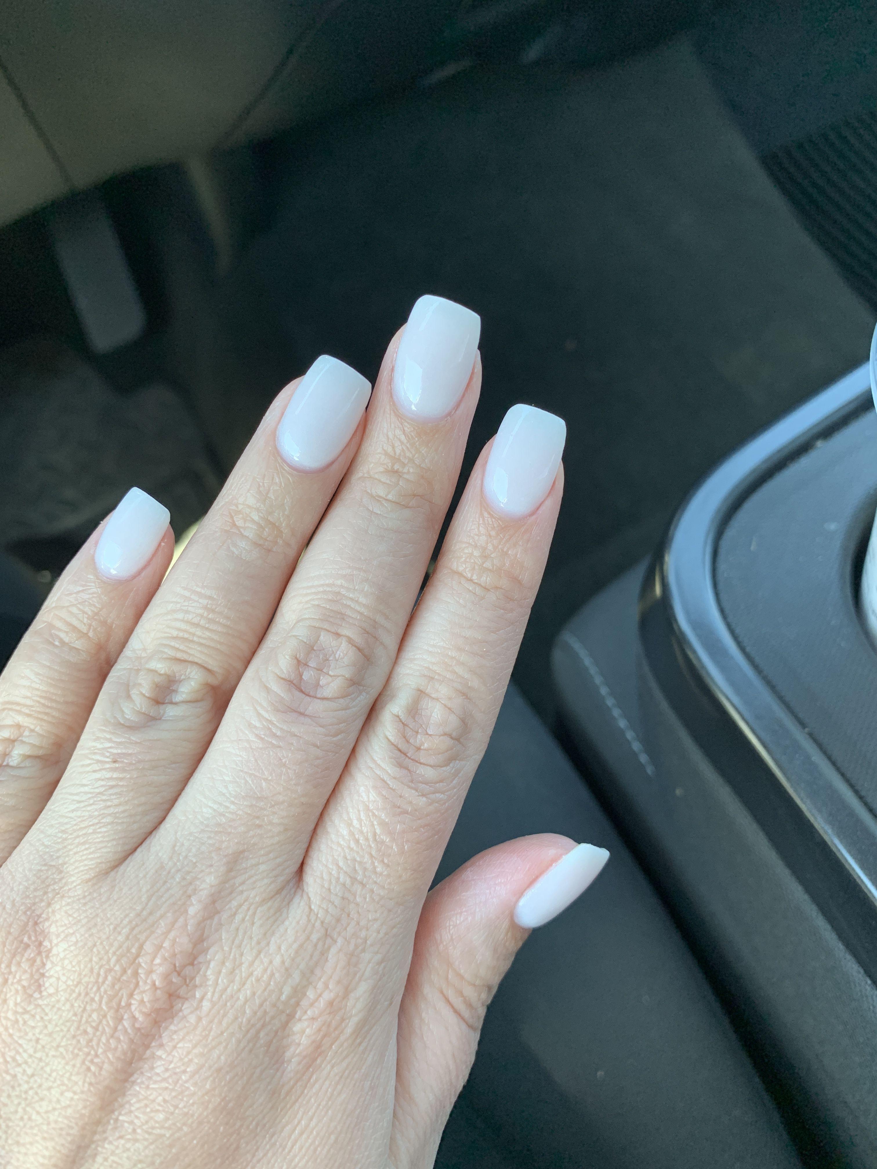 Creamy White Acrylic Nails