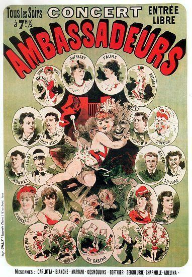 Vintage French Advertising Art Poster Ambassadeurs