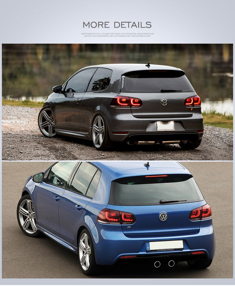 Vland Factory For Car Tail Lamp For Golf 6 For 2008 2013 For Mk6