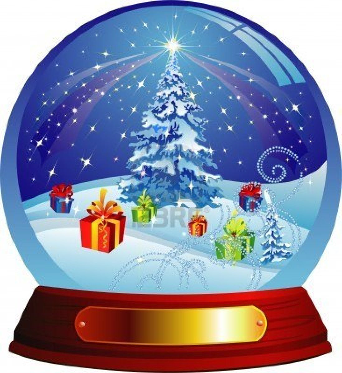 Vector Snow Globe With Christmas Tree And Presents Within Snow Globes Christmas Art Christmas Snow Globes