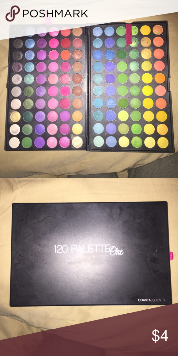 Costal Scents 120 Palette One 120 eyeshadow shades. Lightly used. Urban Decay Makeup Eyeshadow